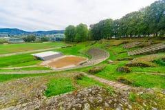 Rzymski teatr zostaje w Autun obrazy royalty free