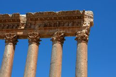 rzymskie baalbeck kolumny Zdjęcia Stock