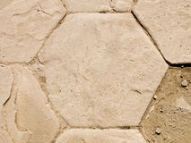 rzymskie ruiny szczegółów sześciokąta Obrazy Royalty Free