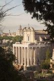 Rzymskiego forum archeologiczny park Obrazy Royalty Free