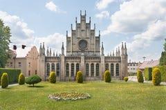 Rzymskokatolicki gotyka kościół dedykujący Nasz dama szkaplerz w Imielin Fotografia Royalty Free