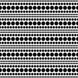 Répétition blanche et noire B de Dot Abstract Design Tile Pattern de polka Image libre de droits