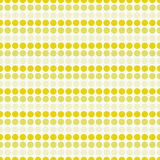 Répétition jaune et blanche de Dot Abstract Design Tile Pattern de polka Image stock