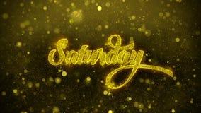 Sábado desea la tarjeta de felicitaciones, invitación, fuego artificial de la celebración