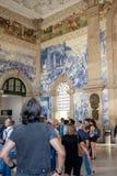 São Bento Train Station, Oporto fotos de archivo libres de regalías