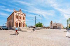 São Domingos font Cariri, ParaÃba, Brésil - vue du centre avec l'église de São José et l'église de Matriz, au nord-est du Brés image stock