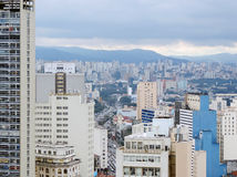 São Paulo seen from above Royalty Free Stock Image