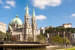 São Paulo Widzii Wielkomiejską katedrę Fotografia Royalty Free