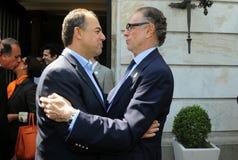 Sérgio Cabral e Carlos Nuzman zdjęcia stock