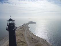 Sõrve latarnia morska i początek wyspa Saaremaa Obraz Royalty Free