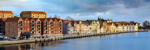Sønderborg promenad, södra Danmark Royaltyfria Bilder