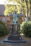 Søren克尔凯郭尔雕塑看法  免版税图库摄影