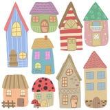 Süße Pastellhäuser lizenzfreie abbildung