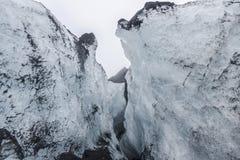 SÃ-³ lheimajökull Gletscherspalte lizenzfreie stockbilder