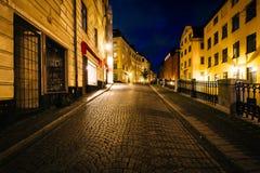 Södra Benickebrinken przy nocą, w Galma Stan, Sztokholm, Szwecja Fotografia Royalty Free