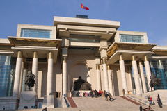 SÃ-¼ khbaatar Quadrat in Ulaanbaatar, Mongolei Lizenzfreie Stockbilder