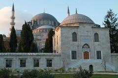 SÃ ¼ leymaniye清真寺外部在伊斯坦布尔,土耳其 图库摄影