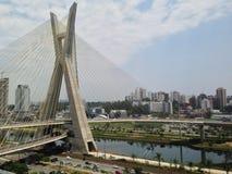 São保罗桥梁 免版税库存照片