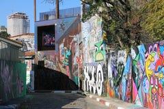 São保罗街艺术, São保罗,巴西 库存图片