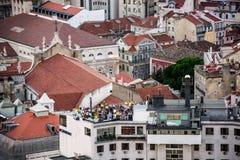 São Jorge Castle - μια δεξίωση γάμου Στοκ Εικόνες