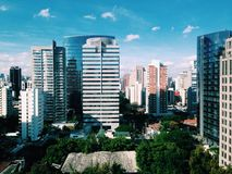 São Paulo Business Neighbour Arkivbilder