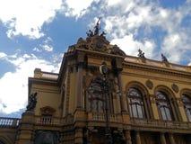 São Paulo Municipal Theater imagem de stock royalty free