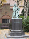 Søren Kierkegaard statua w Bibliotecznym ogródzie, Kopenhaga Obrazy Stock