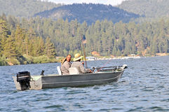 Amigos da pesca Foto de Stock