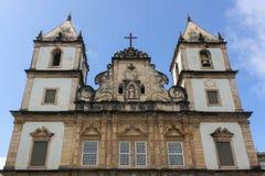 São Francisco Church and Convent, Pelourinho, Salvador, Bahia. Salvador, Bahia, Brazil - August 27, 2011. San Francisco Church in Pelourinho, in Salvador City Stock Images