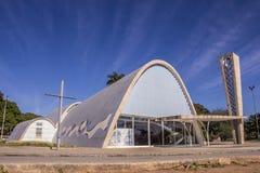 São Francisco de Assis kyrka - Pasmpulhas sjö Royaltyfri Foto