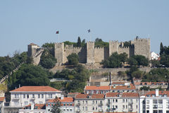 São Jorge Castle in Lisbon, Portugal. A View of São Jorge Castle in Lisbon, Portugal Royalty Free Stock Photo