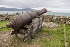 São José da Ponta Grossa Fortress - Florianópolis/SC - Brazil. Cannon in São José da Ponta Grossa Fortress - Florianópolis - Santa Catarina - Brazil Royalty Free Stock Images