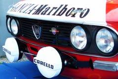 São Marino 21 de outubro de 2017 - Lancia Fulvia na reunião a legenda Fotografia de Stock Royalty Free