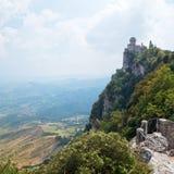 São Marino, torre de Cesta imagem de stock