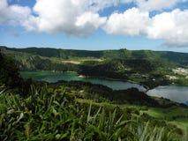 São Miguel. Island of São Miguel in Açores, Lagoa das Sete Cidades royalty free stock images
