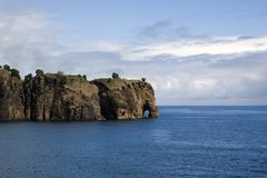Rock that looks like a giant elephant, Sao Miguel, Azores, royalty free stock photography