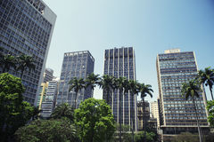 São Paulo Brazil City Center Downtown Park Stock Photos