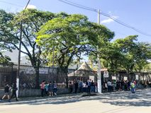 SÃO PAULO, BRAZIL, May 2019 Brazilians at the Consulate General of the United States of America in the city of Sao Paulo. SÃO PAULO, BRAZIL, May 2019 stock photo