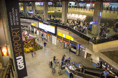 São Paulo-Guarulhos internationaler Flughafen - Brasilien lizenzfreie stockfotos