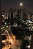 São Paulo por Luar imagens de stock