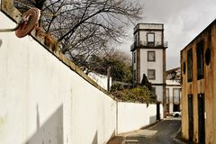 Matosinhos ancient S.Roque street Portugal Royalty Free Stock Photo