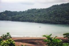 São Tomé and Principe: tropical beach. royalty free stock photography