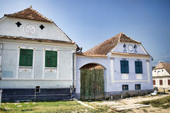 Sächsische Häuser Lizenzfreies Stockfoto