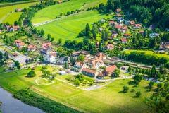 Sächsische natürliche Reserve der Schweiz Stockfotografie