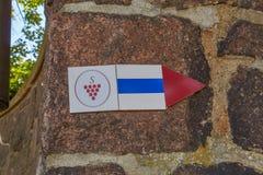 Sächsisches Weinhintersymbol lizenzfreies stockbild