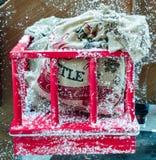 Säck av kol Santa Claus royaltyfri foto