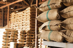 Säcke Reis Stockfotos