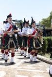 Säckpipe- musikband Royaltyfri Fotografi