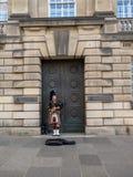 Säckpipeblåsare Edinburg Arkivfoton