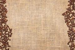 Säckväv och kaffe Arkivbilder